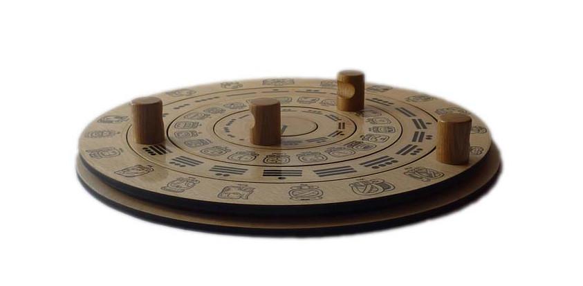 Mayan Wooden Calendar - side view