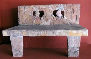 Figure 1. PIedras Negras, Throne 1, now in the Museo Nacional de Antropologia e Historia, Guatemala City. Photograph by Mary Dodge.