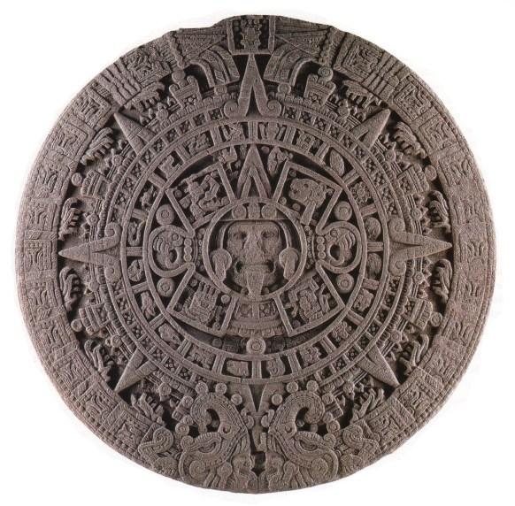 Figure 1. Photograph of the sculpted face of the Aztec Calendar Stone, or Piedra del Sol, Museo Nacional de Antropología, Mexico City.