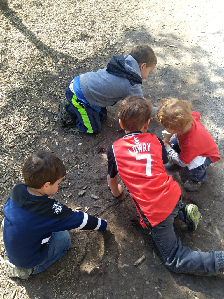 boys playing with friends