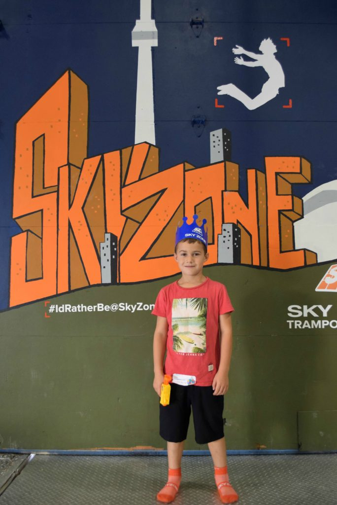 birthday party at sky zone toronto
