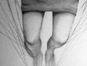 """Breakthrough,"" in progress drawing by Maya Hum"