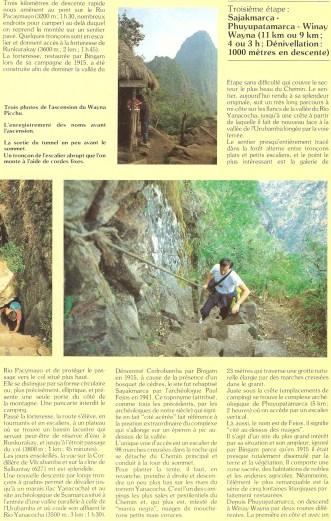 Peru 1989 Chemin Inca 09
