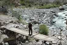 Peru-Canyon Cotahuasi Pont bois