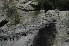 Peru-Canyon Cotahuasi Pont suspendu en branches detail