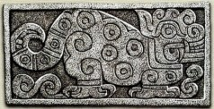 figura 14 Frisa Jaguar del Templo Viejo dessin