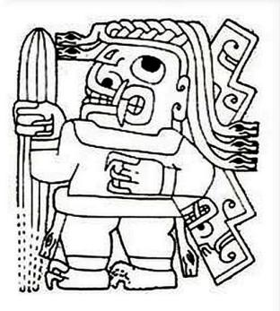 figura 22 Losa Sacerdote medecine man dessin