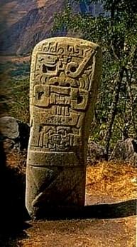 figura 24 Estelas en Kuntur Wasi 1 en sitio origen
