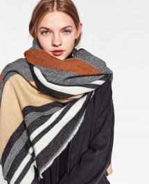 Striped Multi Color Zara Scarf