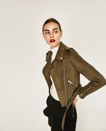 Brown Zara Suede Jacket