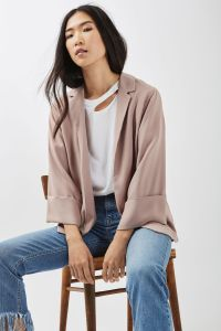 Dusty Pink Loose Blazer Jacket
