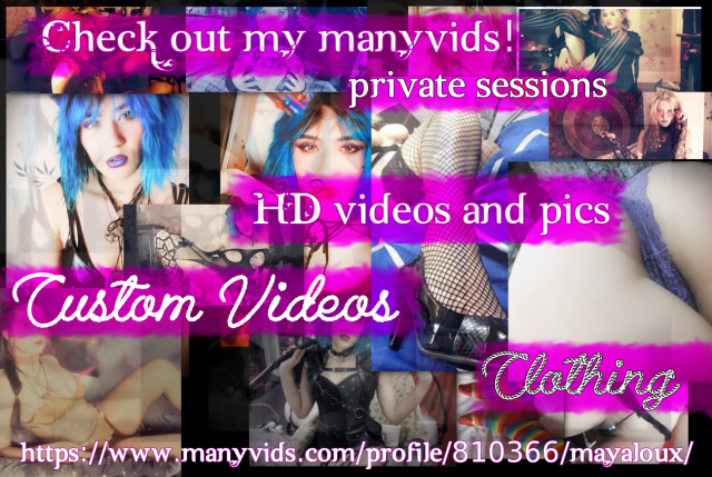 Mayaloux ManyVids - Private skype sessions, HD porn, custom videos, worn clothing