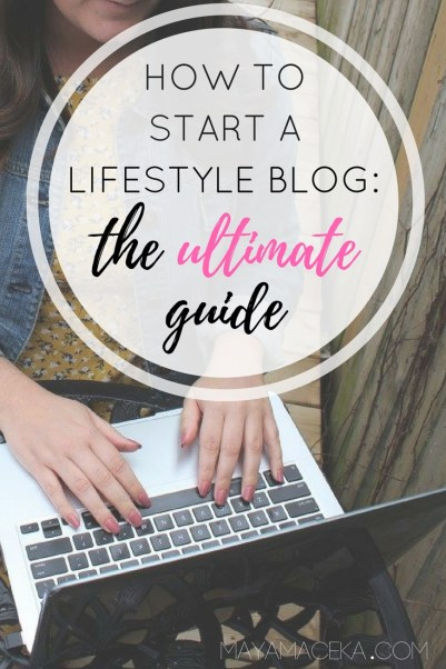 a guide to starting a lifestyle blog