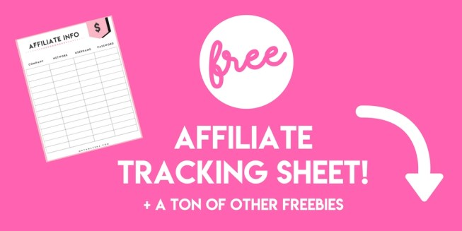 affiliate tracking freebies