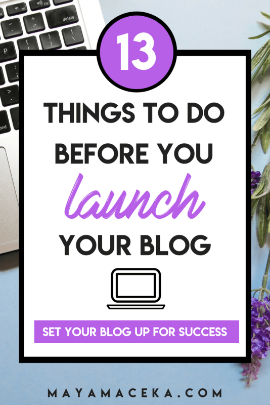 Don't be like 95% of other bloggers and give up. Learn how to start a successful blog the right way! Set yourself up for success and learn what to do before you launch your blog! These are blogging tips you can't miss.