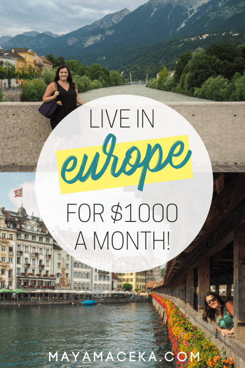 Wondering how to become location independent? In this post, I will show you how to find the best places to live in Europe, book an Airbnb monthly rental and live like a local. It's totally possible to start living in Europe for under $1000 a month. Click through to find out more!