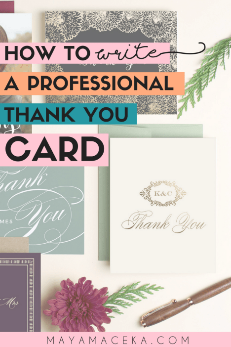 Want to know how to write a professional thank you card or what to write inside a thank you card? This guide will show you the best place to buy cards, how to create the perfect message and how to organize your stationery. #stationery #businesstips