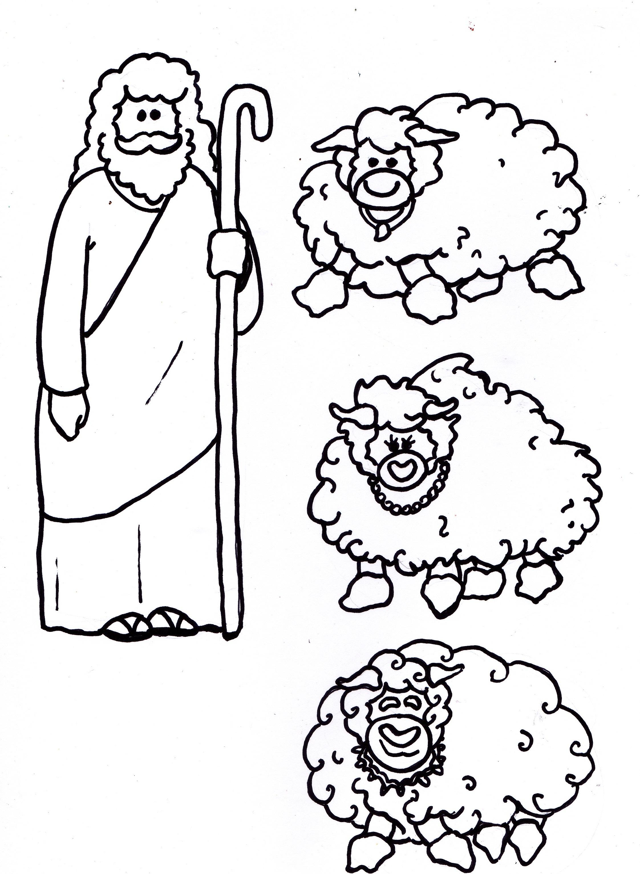 Jesus Is The Good Shepherd Mobile Cutouts