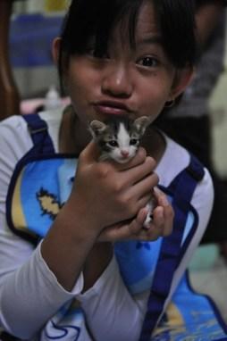 Nadya and Kitten