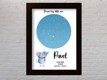 slonić djecji poklon zvijezdano nebo