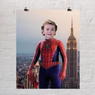 dječak portret spidermana za rođendanski poklon