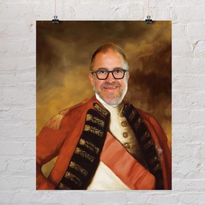 portret ulje na platnu admirala