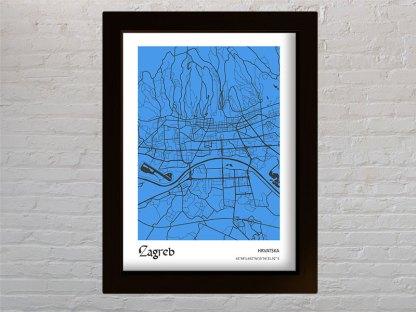 karta grada zagreba kao poklon
