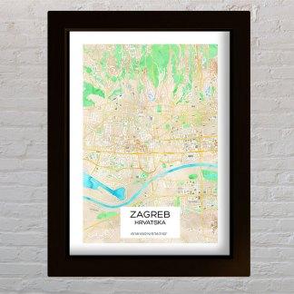 akvarel karta grada zagreba