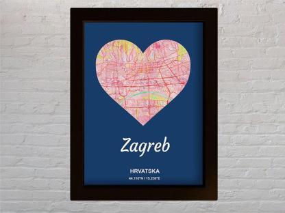 karta zagreba kao licitarsko srce