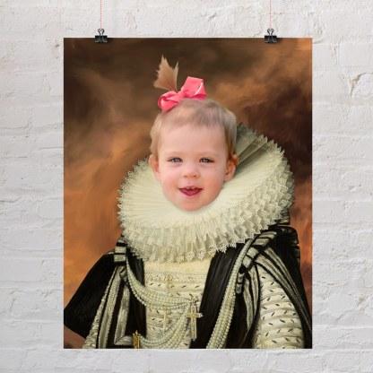 mala djevojčica kao kraljica portre