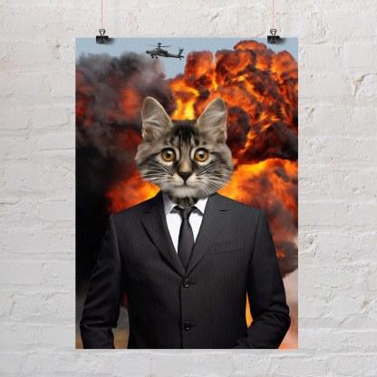 poklon portret mačke poklon za ljubitelje mačaka