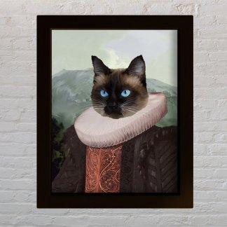 kraljica personalizirani portret kućnog ljubimca