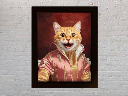 macka kraljica poklon za vlasniek macke portret