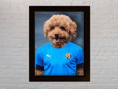 personalizirani portret psa pudla iz nk dinamo zagreb