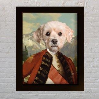 pas general personalizirani portret kućnog ljubimca