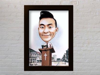 svećenik portret karikatura