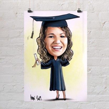 poklon za diplomu portret karikatura