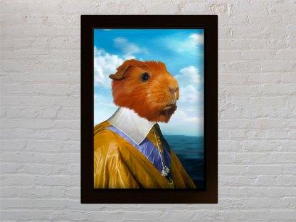 personalizirani portret kućnog ljubimca hrčak kardinal