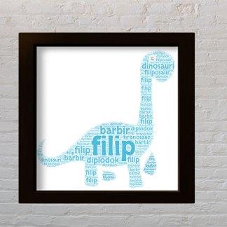 poklon za dečka slika od riječi dinosaur