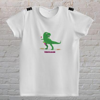vinosaur dinosaur tiranosaurus rex koji pije vino
