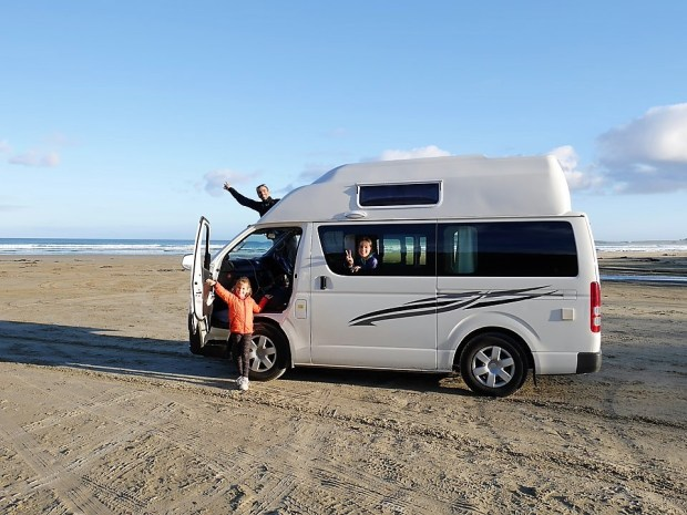 campervan on the beach
