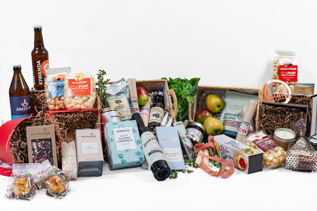 Staged photo with all items. Staged food photography