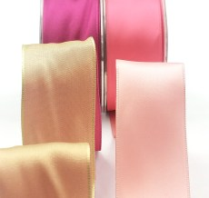 Reversible Wired Satin Ribbon