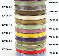"Group Shot KW 3/8""x50y Woven Iridescent Ribbon"