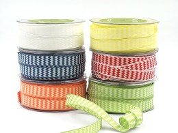woven chevron wired ribbons
