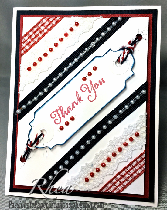 Red, White & Blue Card: Thank You