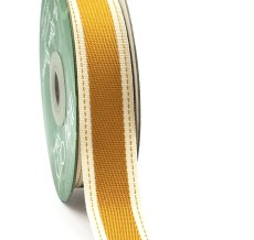 Antique Gold Color Band Cotton Ribbon