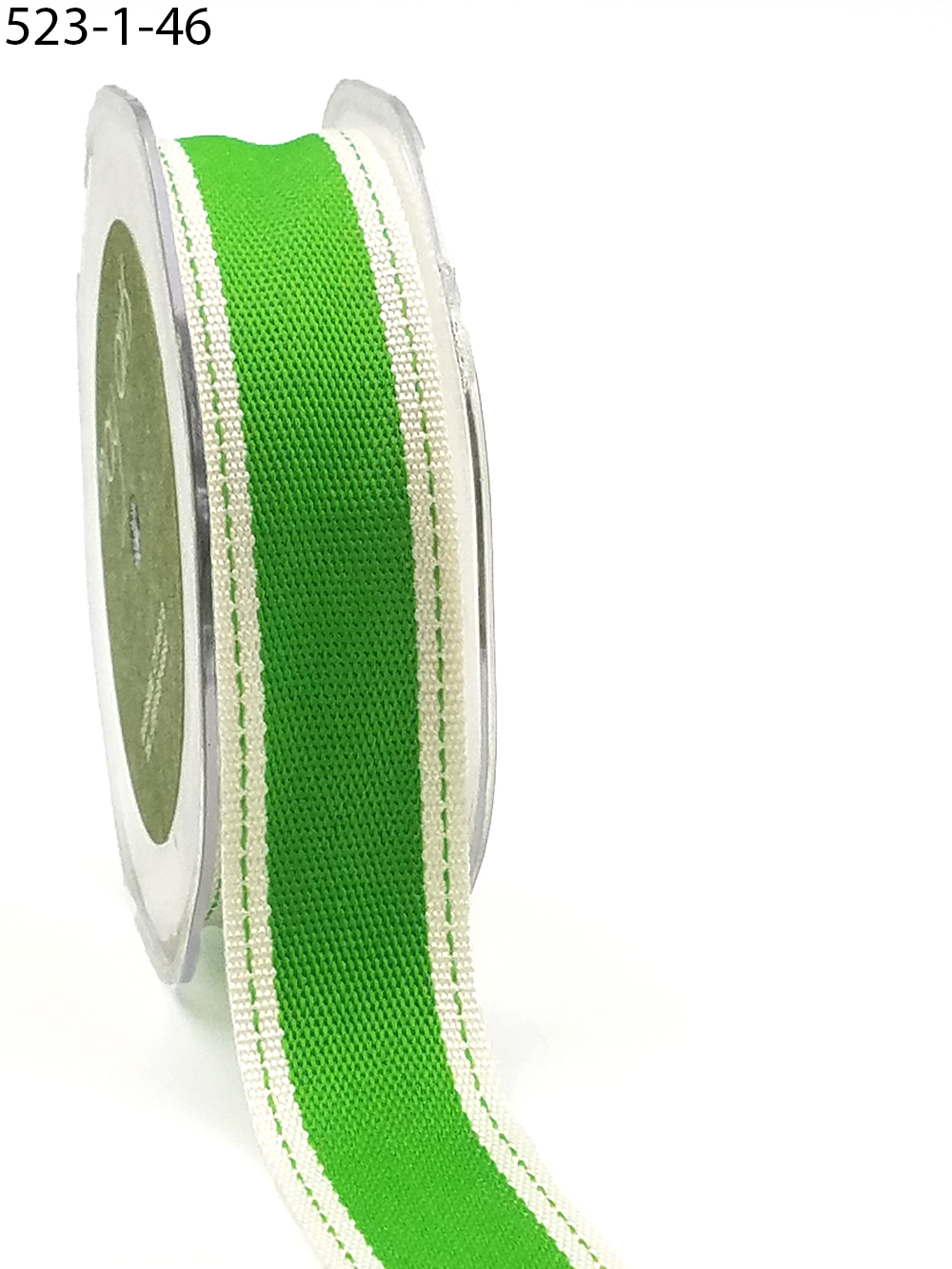 selling by yard puffed cutouts satin Jumbo Leaves Ribbon parrot green color