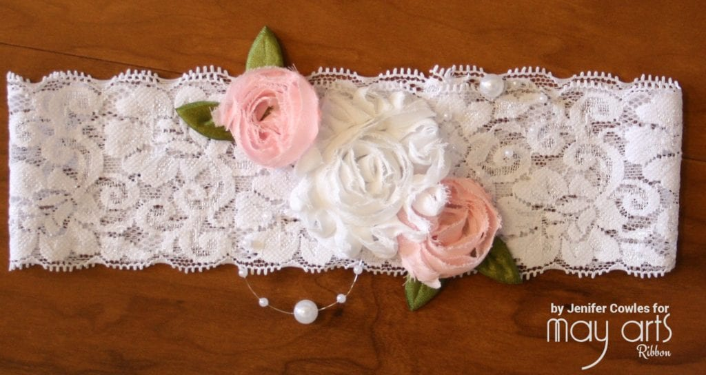 Making a Headband with Lace and Pearls