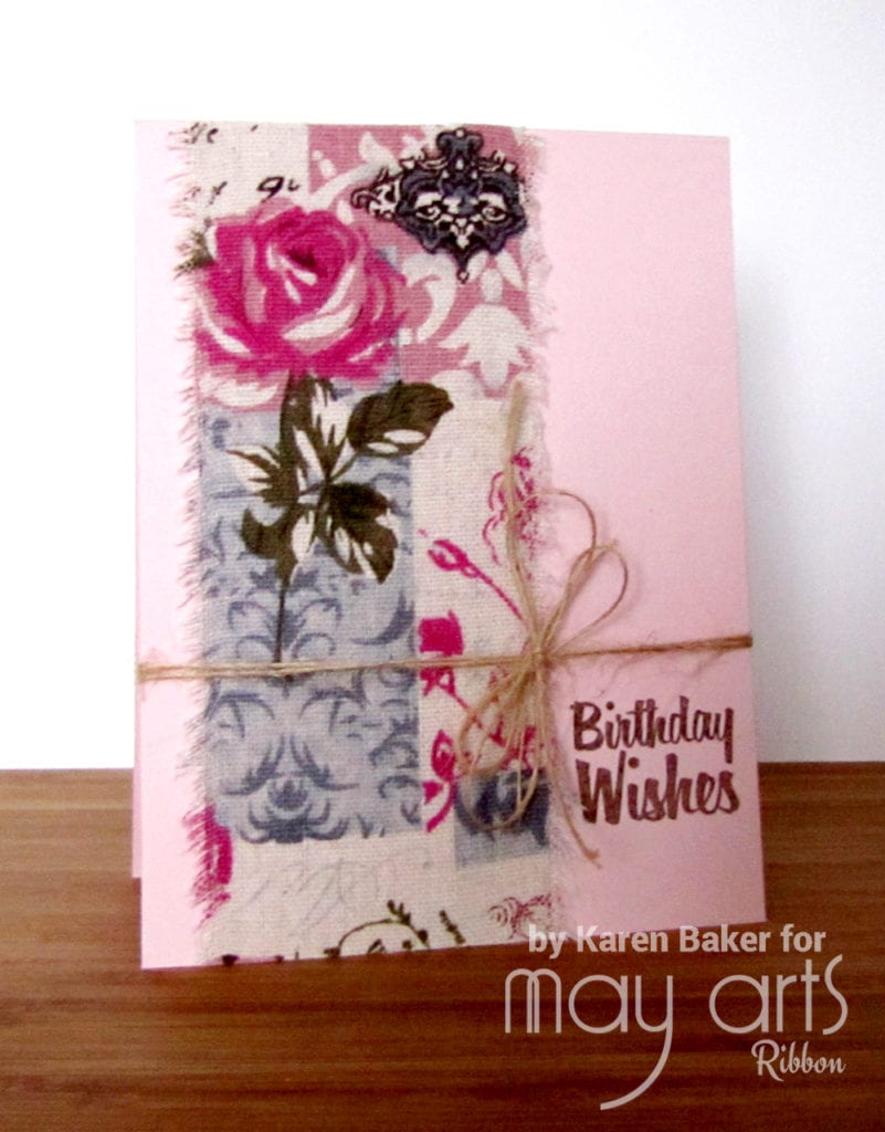 Using Wide Ribbon on Cards